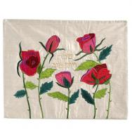 Raw Silk Appliqued Challa Cover -Roses CAS-37