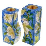 Fitted Shabbat Candlesticks - Lilys CS-9