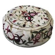 Hand Embroiderey Hat - Pomegranates white HME-2W