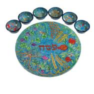 Wooden Passover Seder Plate - The Seven Species SP-3