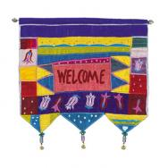 Wall Hanging - Welcome Flowers English Multicolor WE-5