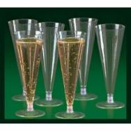 Plastic Clear Champagne Flutes by Fun Express