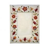 Embroidered Picture Frame (Single) - Pomegranates FES-2