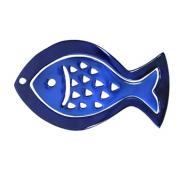 Anodize Aluminum Two Pieces Trivet - Fish Blue HMDC-2