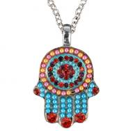 Small Hamsa Necklace - Colors NHS-1
