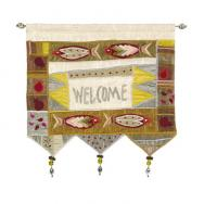 Wall Hanging - Welcome Fish English Gold WE-2