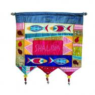 Wall Hanging - Welcome Fish English Multicolor WH-6S