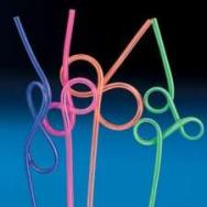 Plastic Fun Loop Straws by Fun Express