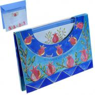 10 Notelets With Envelopes - Pomegranates (Large)  72318.1