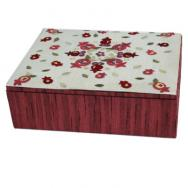 Embroidered Jewelry Box - Pomegranates Red BES-1