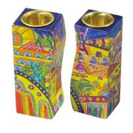 Fitted Shabbat Candlesticks - Jerusalem Oriental CS-7