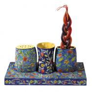 Wooden Shabbat and Havdallah Set - Oriental HA-1