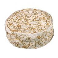 Hand Embroiderey Hat - Birds in gold HAE-6
