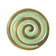 Anodize Aluminum Two Pieces Trivet - Snail Gold and Green MHDC-3B