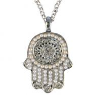 Small Hamsa Necklace - Silver NHS-5