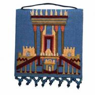 Embroidered Wall Decoration -Small - The Temple Blue WS-20