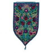 Large Shield Tapestry - Oriental - Turquoise WSB-5T