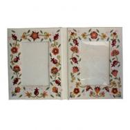 Embroidered Picture Frame (Double) - Pomegranates FEL-2