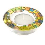 Glass Candle Holder - Jerusalem GL-1