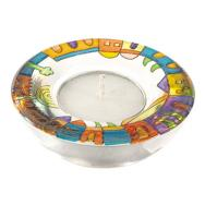 Glass Candle Holder - Jerusalem Panorama GL-4