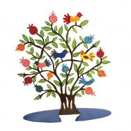 Laser Cut Hand Painted Decoration - Brown Pomegranate Tree LCT-1