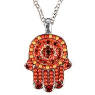 Small Hamsa Necklace - Red NHS-3