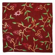 Embroidered Pillow Cover - Red PM-2