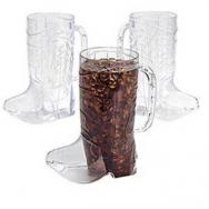 Clear Plastic Cowboy Boot Mugs by Fun Express
