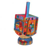 Small Wooden Dreidel with Stand -Toys DRS-8B