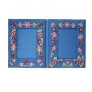 Embroidered Picture Frame (Double) - Flowers FEL-3