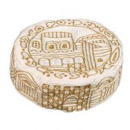 Hand Embroiderey Hat - Jerusalem in gold HAE-2