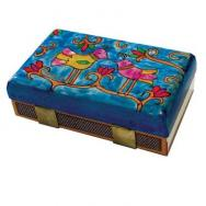 Kitchen Size Painted Wooden Match Box - Birds MBM-2