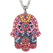Large Hamsa Necklace - Colors NHL-1
