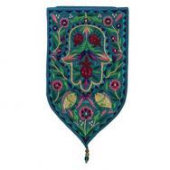 Large Shield Tapestry - Hamsa - Turquoise WSB-6T