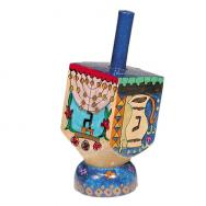 Small Wooden Dreidel with Stand -Menorah DRS-10B