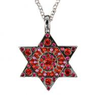 Star of David Necklace - Red NST-3