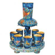 Wooden Kiddush Fountain - Oriental FN-2