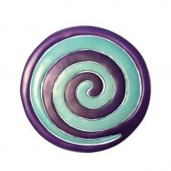 Anodize Aluminum Two Pieces Trivet - Snail Turq. and Violet MHDC-3C