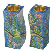 Fitted Shabbat Candlesticks - flowering CS-6
