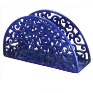 Anodize Aluminum Napkin Holder - Semi-Circle Orintal - Blue NHMC-3