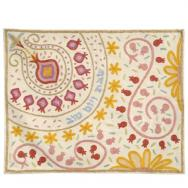 Hand Embroidered Challa Cover - Pomegranates bright CHE-35
