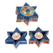 Star of David Shabbat Candlesticks - Jerusalem CNS-1