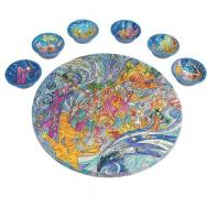 Wooden Passover Seder Plate - The Exodus from Egypt SP-12