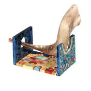 Wooden Shofar Stand - Jerusalem Small STS-1