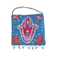 Embroidered Wall Decoration - Hamsa Blue WS-4