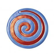 Anodize Aluminum Two Pieces Trivet - Snail Red and Blue MHDC-3A