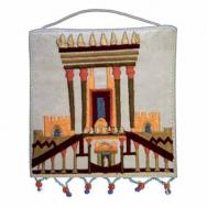 Embroidered Wall Decoration -Small - The Temple white WS-19