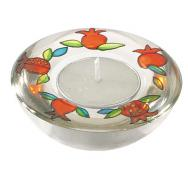 Glass Candle Holder - Pomegranates GL-5