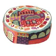 Hand Embroiderey Hat - Jerusalem in color HAE-1