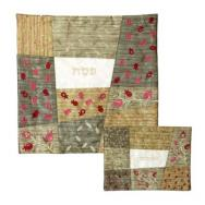 Embroidered Matzah Cover Set - Gold MMA-AMA-1